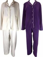 Full Length Fleece Patternless Unbranded Nightwear for Women
