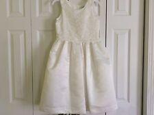 NWT US ANGELS IVORY LACE OVERLAY SATIN DRESS GIRLS 10 $152.00+