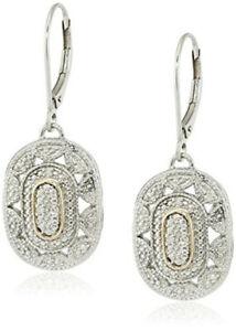 Wedding Jewelry Gold And Silver Zircon Art Deco-Style Drop Earrings