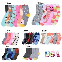 Boy Girl Crew Ankle Socks Lot Casual Fashion 0-12 2-3 4-6 6-8 Baby Toddler Kids