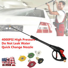 4000 PSI Water Spray Pressure Washer Gun Wash Car Clean W.5 Nozzle Lance Wand