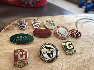Vintage Wrvs Badges Instructor/organiser & Others 10 Badges