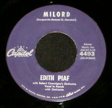 "EDITH PIAF FRANK POURCEL ""MILORD/Milord"" CAPITOL 4493 (1960) 45rpm SINGLE"