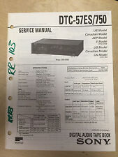 Sony Service Manual for the DTC-57ES DTC-705 Audio Tape Deck ~ Repair mp