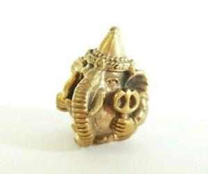 Mini Round Ganesh Hinduism Lord Statue Fortune Successful Shiva Son Gold Pocket