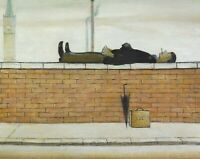 "-Man-Lying-On-A-Wall-1957 Canvas Wall Art ""20x30"""