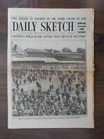 VINTAGE NEWSPAPER DAILY SKETCH AUGUST 19th 1926 ENGLAND WIN BACK CRICKET ASHES