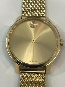 MOVADO Bold Yellow Gold Dial Ladies Watch 3600598