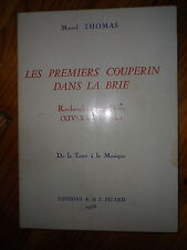 1978 BRIE COUPERIN MUSICIENS SEINE ET MARNE