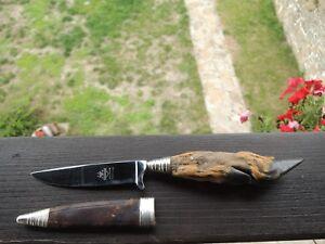 vtg.Rehwappen Solingen Folklore knife, hunting knife, deer knife -Hirschfänger