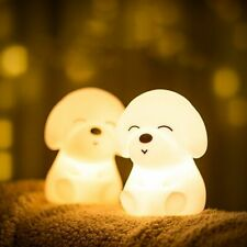 Colorful Silicone Dogs LED Night Light Lamp USB Rechargeable Soft Touch lights