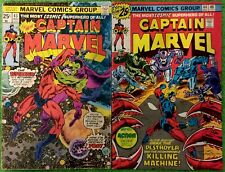 Captain Marvel #43 and 44 - Marvel Comics Group - 1976