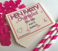 Hen Party Games Charades Funny Drinking Game Hen Do Bride To Be Party Bag Filler