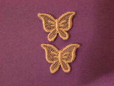 SMALL BLUE BUTTERFLY EMBROIDERY APPLIQUE PATCH EMBLEM LOT (12 dozen)