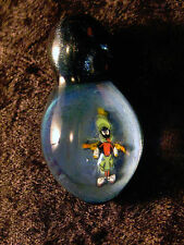 Marvin The Martian Art Glass Pendant Bead Alien Space Millifiore Murrine Milli
