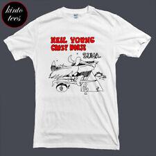 Neil Young Crazy Horse ZUMA Music Legend Men's White T-Shirt Size S to 3XL