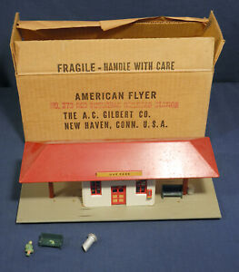 American Flyer #273 Red Suburban Railroad Station Never Used Orig Box AC Gilbert