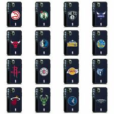 OFFICIAL NBA LOGO BLUE LEATHER BACK CASE COVER FOR APPLE iPHONE PHONES