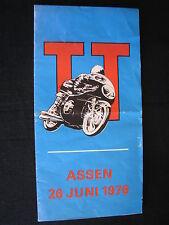 Flyer TT Assen, zaterdag 26 juni 1976 Circuit van Drenthe (TTC)