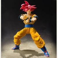S.H.Figuarts Dragon Ball Z Red Super Saiyan Red Hair Goku Action Figure HOT