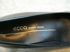 "Ecco Womens 6.5 (Eur 37) Black Smooth Leather Heels (2.25"")"