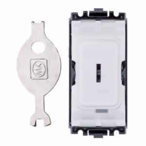 MK Grid Plus - K4898 WHI - 20A Two Way Key Switch Module