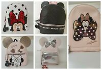 Disney Mickey/Minnie Mouse Bag Unicorn Glitter RuckSack Backpack Primark