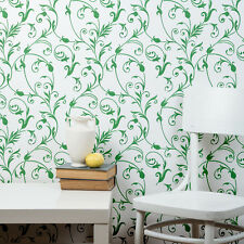 Large Floral Wall Stencil - DIY Wall decor stenciling Idea