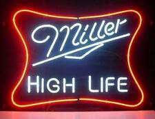"New Miller High Life Beer Lager Bar Man Cave Neon Sign 17""x14"""