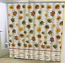 Fall Leaves Shower Curtain Autumn Thanksgiving Bathroom Decoration Farmhouse