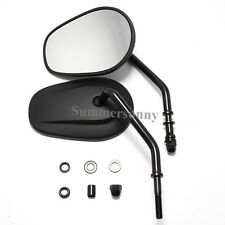 Pair Motorcycle Rearview Side Mirrors For Harley Davidson And Metric Motorcycles