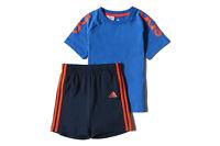 Adidas Niño Bebé / 3 Rayas Shorts & Top Conjunto Verano Edades 3-24m