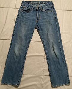 Men's American Eagle Original Straight Jeans 100% Cotton Medium Wash Tag 26x28