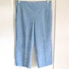 ALFRED DUNNER Corduroy Pants Ice Blue Polyester Stretch Waist Womens Plus Sz 18W