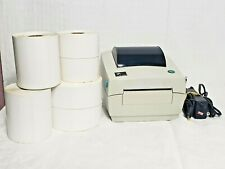 Zebra Technologies LP2844 Thermal Label Printer w/ Power Supply & Labels, Tested
