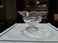 Vintage Footed Crystal Candy, Nut, Popourri Bowl.Clear Crystal Dish. Collectible