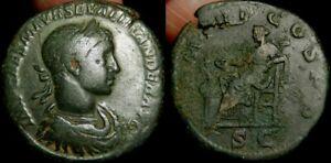 MORTWN Severus Alexander Sestertius AD 222  Salus - Lovely VERY Early Sestertius
