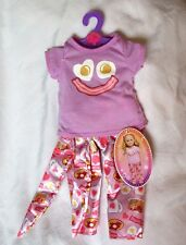 "My Life AG Clothes Bacon & Eggs Smiley Emoji PAJAMAS Pink PJ's 18"" Girl Doll NEW"