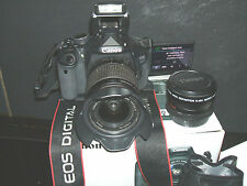 Canon EOS 600D/KISS 18.0 MP Digital SLR - (Kit con tres lentes EF-S IS..