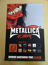 Metallica Rare Retail Promo Poster 2003 for St. Anger Cd 27x18 Double Sided