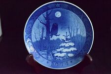 Vintage, collector plate from Denmark, 1974 winter Twighlight