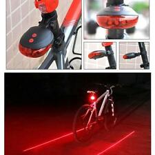 Bicycle Anti Collision Back LED Light Laser System - Keep Your Safety On The Roa