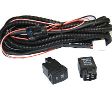 Relay Wiring Harness Switch Wire H11 For Nissan Add-On Fog Lights HID LED DRL
