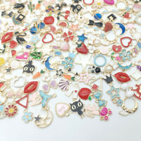 20Pcs/Set Mixed Enamel Random DIY Alloy Pendant Charms Craft Jewelry Accessories