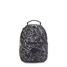 Kipling Small Backpack SEOUL S Tablet Protection NAVY STICK Print HOL19 RRP £87