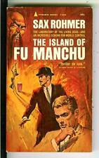 ISLAND OF FU MANCHU by Sax Rohmer, Pyramid #F858 Asian crime gga pulp vintage pb