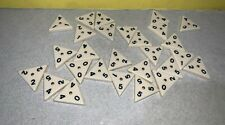 27 Deluxe Tri-Ominos Game Pressman Tin Brass Spinner Tiles Replacement Parts