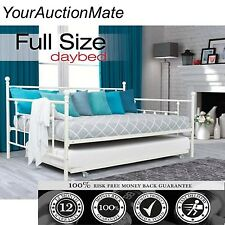 Daybed Full Size w/Twin Size with Roll-out Trundle Manila Metal Day Bed Sleeper