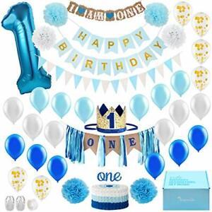 Baby Boy 1st Birthday Decorations With Birthday Crown   First Birthday Boy Decor