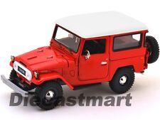 TOYOTA FJ40 FJ 40 LAND CRUISER RED 1:24 DIECAST MODEL CAR BY MOTORMAX 79323